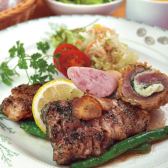 調理例:肩ロースステーキ 肉本来の濃厚な味が楽しめます。