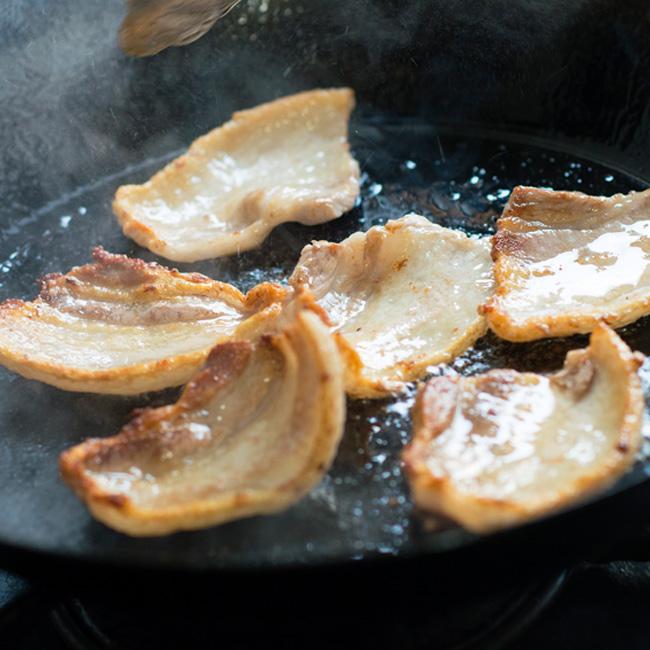 柔らかいさっぱりとしたロース肉。