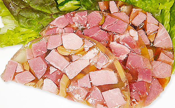 <span>ゼリー寄せ   一覧</span>プルンとしたゼリーの食感とモモ肉の旨味が楽しめます。